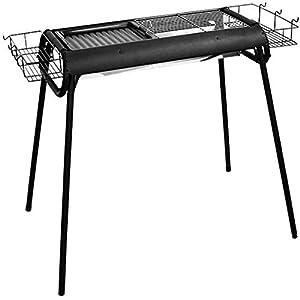 Barbecue portatile in acciaio inox spesso a carbonella per barbecue a più persone, portatile da picnic, stabile e… 4 spesavip