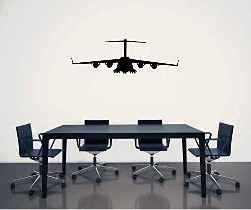 Lockheed C-17 Globemaster Airplane Silhouette Vinyl Wall Decal Sticker