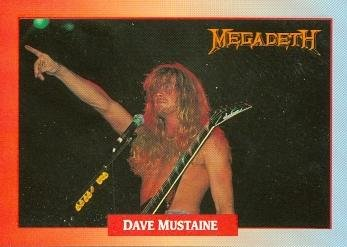 Dave Mustaine trading Card (Megadeth) 1991 Brockum Rockcards #34 by Autograph Warehouse