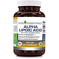Vita Essentials Alpha Lipoic Acid 300 Mg Capsules, 60 Count