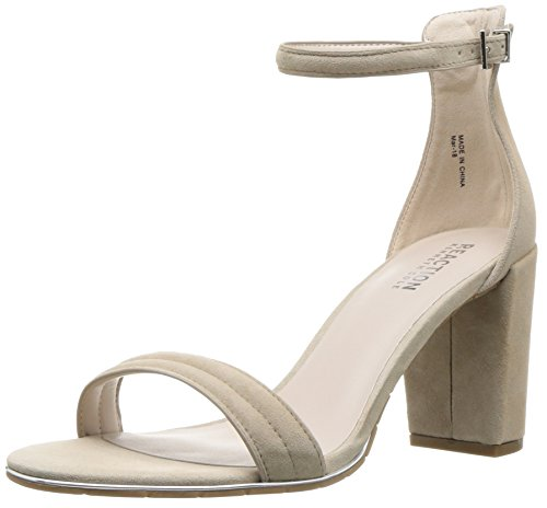 Kenneth Cole REACTION Women's Lolita Strappy Heeled Sandal Taupe, 8.5 M US