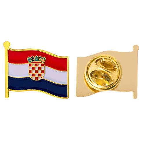 Croatia Country Flag Lapel Pin Enamel Made of Metal Souvenir Hat Men Women Patriotic (Waving Flag Lapel ()
