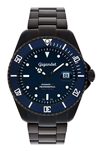 Gigandet Men's Automatic Pro Diver Watch Sea Ground Analog Stainless Steel 30atm Matt Black Blue G2-013