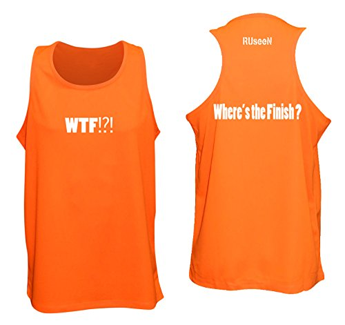 2b224fd7 Amazon.com: RUseeN Men's Reflective Tank Top - Where's the Finish?: Sports  & Outdoors