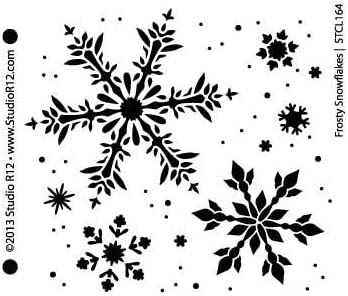 Christmas snowflake snow star Mylar Reusable Stencil Airbrush Painting Art Craft