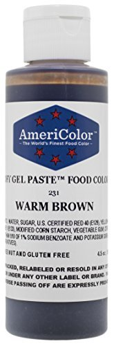 WARM BROWN SOFT GEL PASTE 4.5 OZ Cake ()