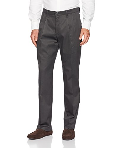 - LEE Men's Total Freedom Stretch Relaxed Fit Pleated Front Pant, Charcoal, 38W x 34L