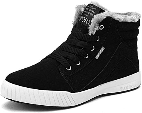 Booties Men's Winter Warm Snow Boot Low-Top Trainers Skateboarding Shoes Anti-Slip Sneakers Hiking Trekking Shoes Lace…