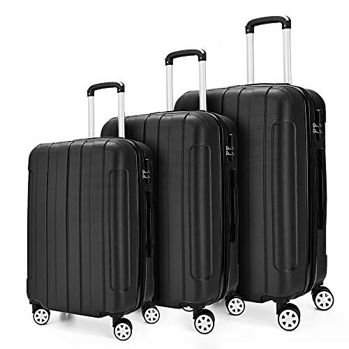 Roller Luggage Set - Luggage sets 3 Piece Expandable Suitcase set Lightweight Hardshell with Spinner(20
