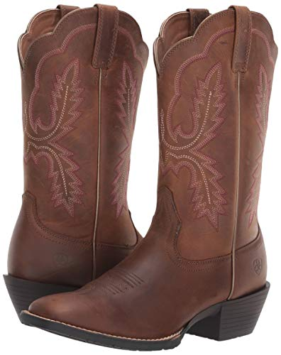 ARIAT Women's Hybrid Rancher Crossfire Western Boot Distressed Brown Size 11 M Us