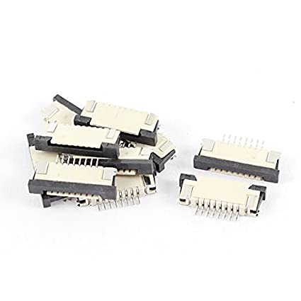 Amazon.com: eDealMax De puertos inferiores 8Pin 1.0mm Pitch Cinta FFC FPC conector hembra 10Pcs: Electronics