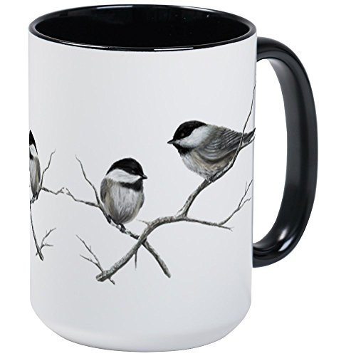 (CafePress Chickadee Song Bird Mugs Coffee Mug, Large 15 oz. White Coffee Cup)