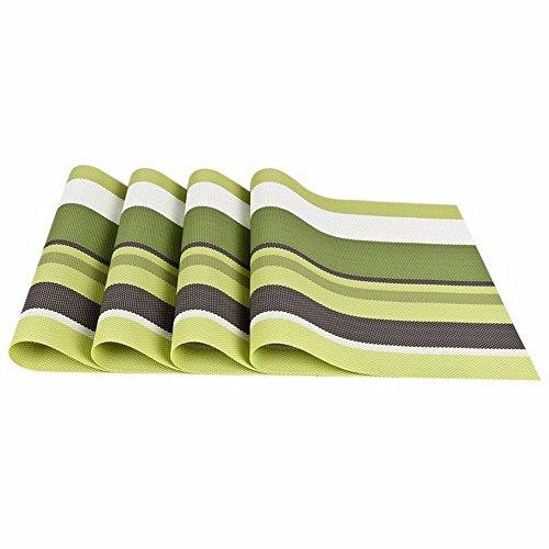New Arrival Placemats Set of 4 PVC Placemat Bar Mat Plate Mat Table Mat Set Kitchen Hot Pads 12