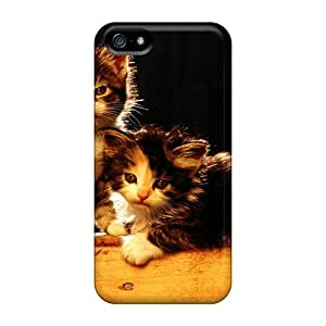SGKXX12LDAUT Tpu Case Skin Protector For Iphone 5/5s Animals Kittens With Nice Appearance