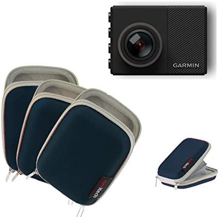 Navitech Blue Water Resistant Dash Cam Case Cover CompatibleThe Garmin Dash Cam 45 55 65W Dash Cam (with Belt and Hand Strap)