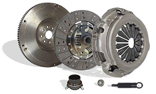 Clutch With Flywheel Kit Works With Toyota Tundra T100 Tacoma 4Runner Base Pre Runner Sr5 Dlx S-runner Limited 1995-2004 3.4L 3378CC V6 GAS DOHC Naturally Aspirated