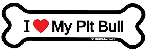 Love Pit Bull bone magnet