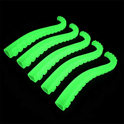 Nails Green Joofff 12pcs Fluorescent Halloween Octopus Trick Masquerade Set Finger Fake Props 55Yrq