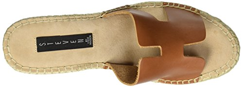 Wedge Eryk Women's by STEVEN Steve Leather Madden Sandal Cognac RqZOSp