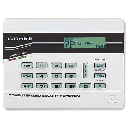 Amazon.com: GEM-K4RF NAPCO Stay/Away Keypad w/ Built-in 32pt Gemini Wireless Receiver: Home Improvement