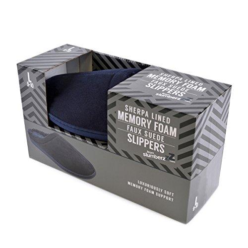 Größen Open Farben Geschenkbox Verschiedene Navy Full Herren Herren In Footwear Back Foam Hausschuhe Memory 7nxIP