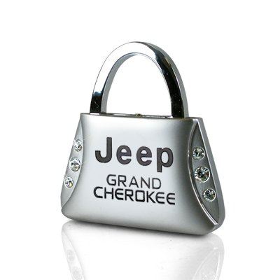 Jeep Cherokee Crystal - Jeep Grand Cherokee Clear Crystals Purse Shape Key Chain