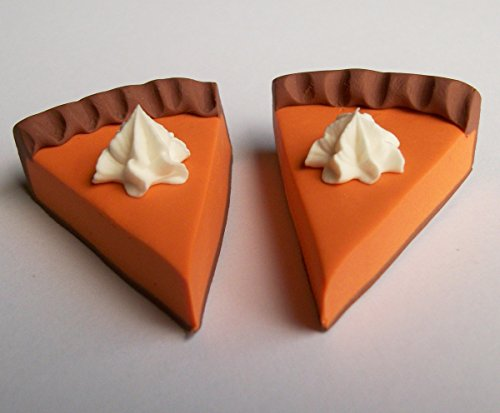 2 Pumpkin Pie Slices for Thanksgiving Christmas Dessert Treat Set for 14 inch 18 Inch dolls American Girl, Journey Girls, Our Generation, Madame Alexander, Wellie Wishers, Hearts for Hearts, Glitter by Jessieraye