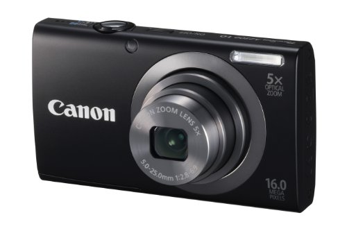 Canon PowerShot A2300 IS 16.0 MP Digital Camera with 5x Optical Zoom (Black)
