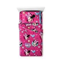 Disney Minnie Mouse Twin Sheet Set Microfiber Flannel
