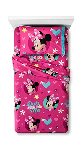 Disney Minnie Mouse 3 Piece Twin Sheet Set Microfiber Flannel](Minnie Mouse Bedding Set Twin)