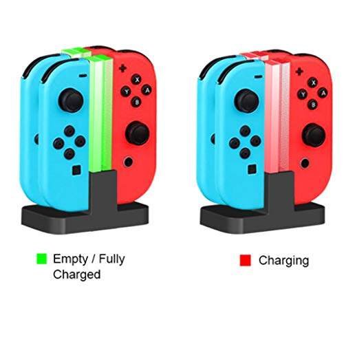 Charging Dock for Nintendo NS Switch Joy-Cons, Charging Station with LED Indication for 4 Joy-Cons Black (Gta 4 Mods Xbox 360 Usb Cars)