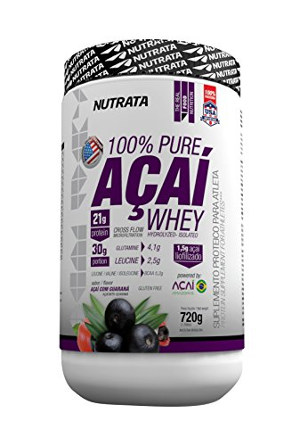 World's First Ever: 100% Pure Superfruit Acai Whey Protein Powder - Hydrolyzed Isolated by Nutrata ® (pack of 4) by New Açai - Nutrata