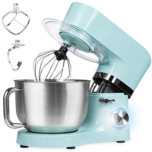 Best Choice Products 6.3qt 660W 6-Speed Multifunctional Tilt-Head Stainless Steel Kitchen Stand Mixer w/ 3 Mixing Attachments, Scraper Spatula, Splash Guard - Teal