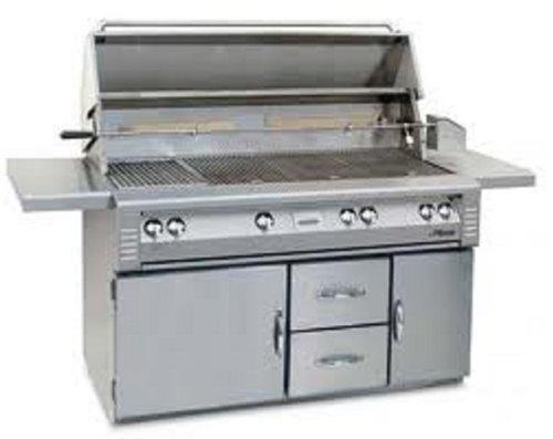 (Alfresco ALX2-56BFGR Standard Grill on Refrigerated Cart, 56-Inch)