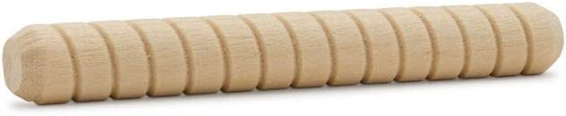 Pack of 50 Fluted Dowel Pins for Furniture and Wood Crafts by Woodpeckers Wood Dowel Pins 3 inch x 1//2 inch