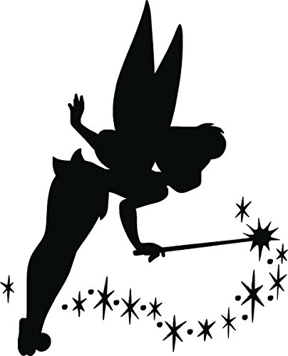 Tinkerbell Wall Decal, Bedroom, Living Room, Any Room Wall Art, Home Decor, Custom Vinyl, Vehicle Decals. ()