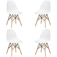Poly and Bark Vortex Side Chair, Set of 4, White