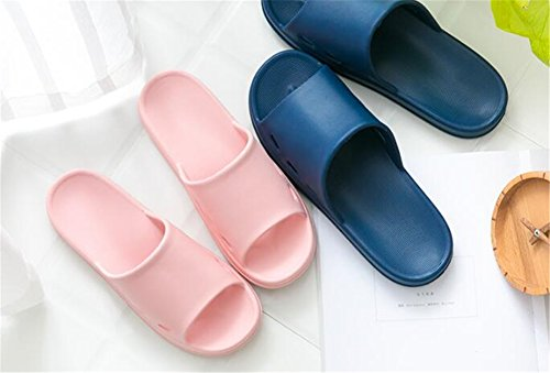 men Thick Anti TELLW Indoor Slippers Home Female Slip Bathroom dark Summer Cool Slippers Bottom Male Blue for Svwr6x8S