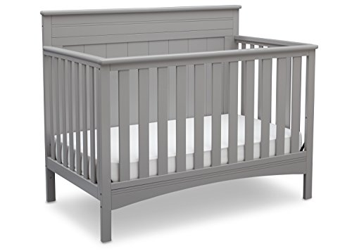 Delta Children Fancy 4-in-1 Convertible Baby Crib, Grey