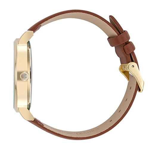 WRISTOLOGY Olivia Womens Numbers Boyfriend Watch Gold Brown Leather Strap by Wristology (Image #1)