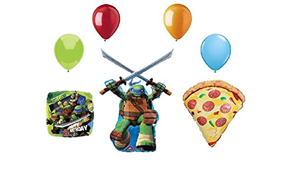 Amazon.com: TEENAGE Mutant NINJA TURTLES and PIZZA 7 Piece ...
