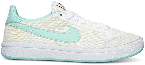 Nike Womens Meadow 16 Sneaker Alta Moda Alla Caviglia Bianca / Iper Turchese