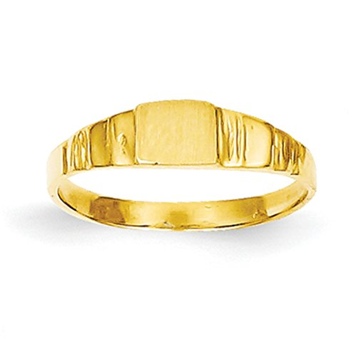 Gold Baby Ring - Baby and Children 14K Yellow Gold Signet Ring