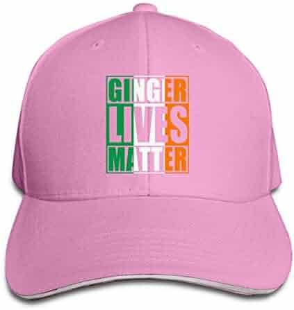 Women s Men s Ginger Lives Matter Irish Flag Adult Adjustable Snapback Hats  Sandwich Peaked Trucker Cap 7aae754e9773