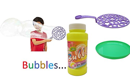 Toy Cubby Adorable Bubble Wand with Bubble Soap Set ()