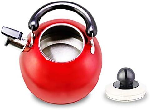 Bouilloire en Acier Inoxydable Bouilloire à sifflet Automatique Bouilloire à brûler à la Maison Rouge