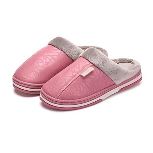 Pink 26 Fondo Impermeabili Semplici Dimensioni Calde Pink Signore Comode Invernali Di Centimetri colore E Yanq Cotone Antiscivolo Pantofole Cotone tHqPxap