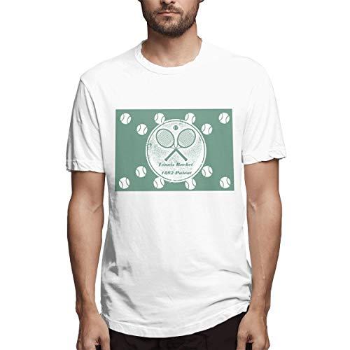 Silver Bullet Tennis Racket 1892 Patent Vintage Tennis Men's Printing Stylish White Customised T-Shirts Livescore Tennis L (Beste Brille Für Tennis)