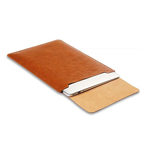 Soyan 15-Inch Laptop Sleeve Cover for MacBook Pro Retina 15.4 Inches, Fits Model A1990/A1707/A1398 (Brown)