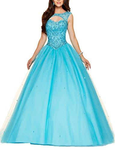 Bridal_Mall -  Vestito  - linea ad a - Donna Lightblue 40